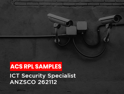 acs rpl sample for ICT security specialist