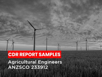 agricultural Engineer cdr sample
