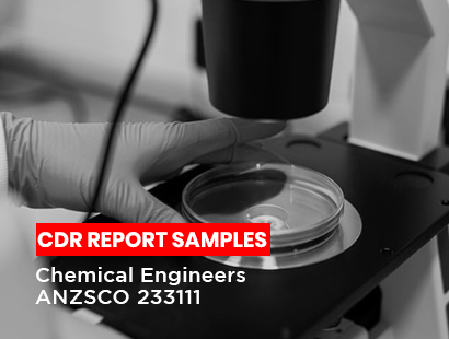 chemical engineers cdr sample