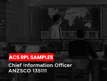 acs rpl sample for chief information officer