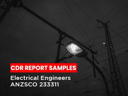 Electrical Engineers ANZSCO 233311 CDR Report Sample