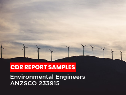 Environmental Engineers ANZSCO 233915 CDR Report Sample
