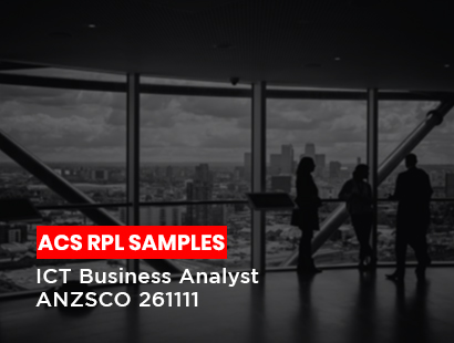 acs rpl sample for ict business analyst