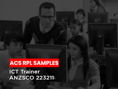 acs rpl sample for ict trainer