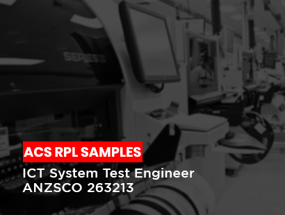acs rpl samples ict system test engineer