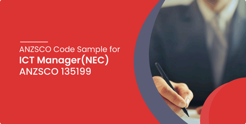 ANZSCO code sample for ICT Manager (NEC)