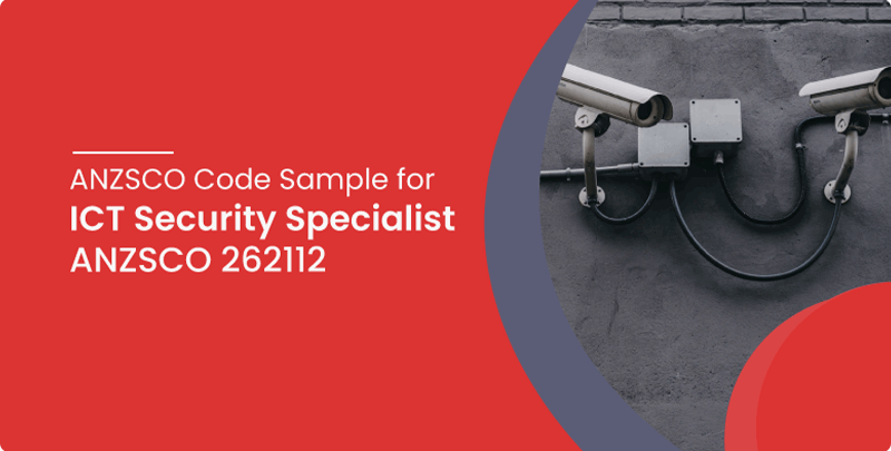ANZSCO code sample for Ict security specialist