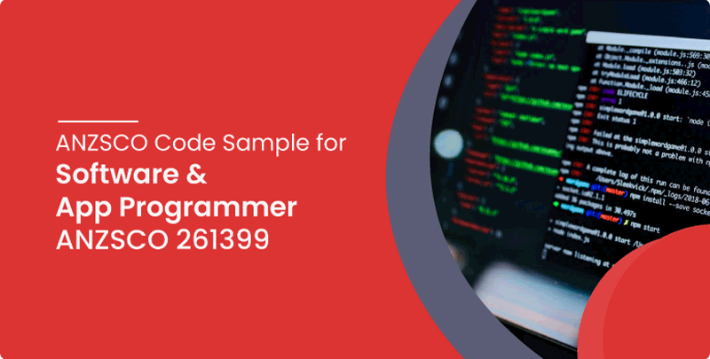 ANZSCO code sample for Software and Application programmer