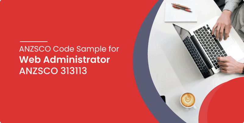 ANZSCO code sample for Web Administrator