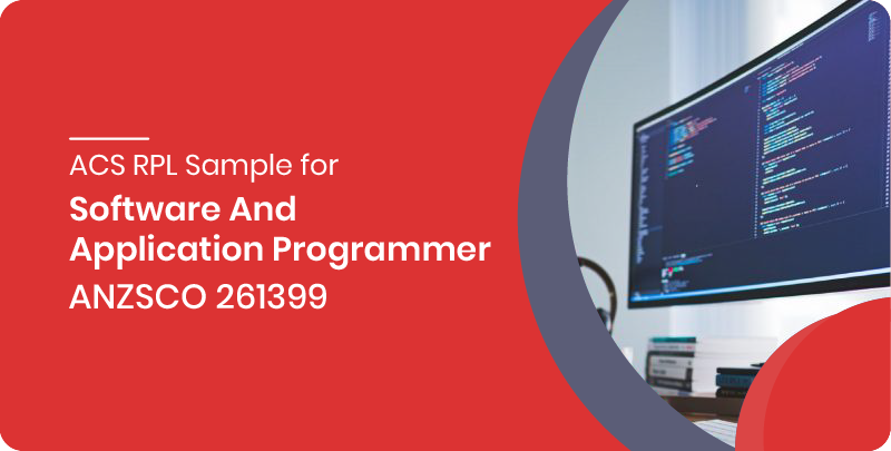 ACS RPL sample for Software and Application Programmer