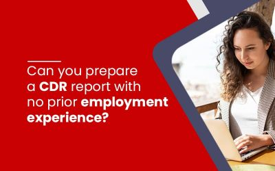 Can you prepare a CDR report with no prior employment experience