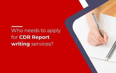 Who needs to apply for CDR Report writing services